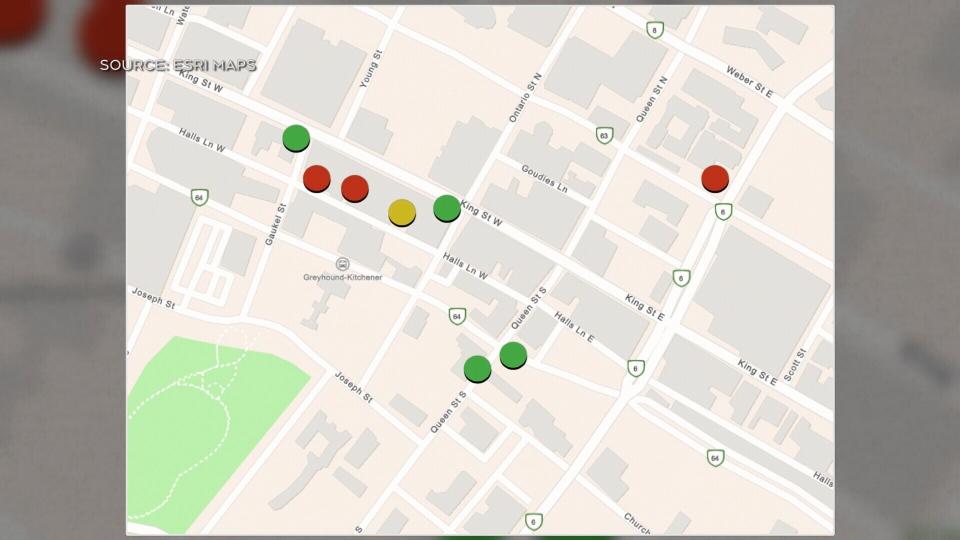 Kitchener cannabis map.