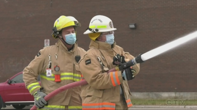 Timmins police make good on bet with firefighters