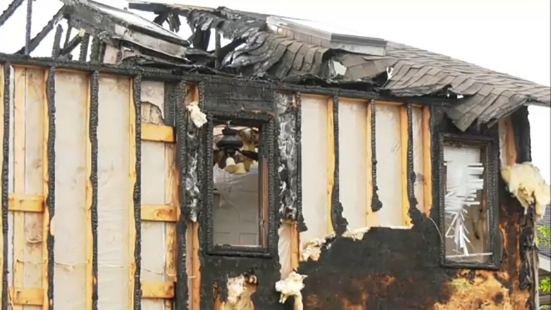 Northeast residents are concerned that a house that burned down in December that hasn't been cleaned up is dangerous.