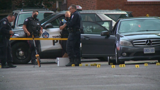 A man is dead and a woman is in hospital with serious injuries following a shooting in Scarborough overnight.