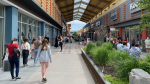 Retailers at Tanger Outlets opened on Friday for in-person shopping as Ontario took Step 1 in the Roadmap to Reopen plan. (Jeremie Charron/CTV News Ottawa)