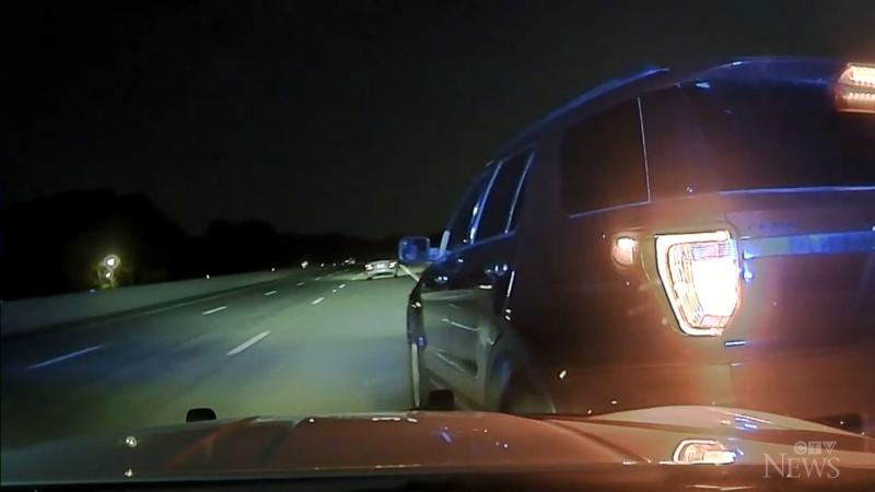 Woman sues state trooper after car flip crash
