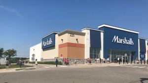 Customers line up outside of Marshalls (Chris Thomson / CTV News Kitchener)