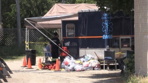 Residents are now isolating for the next 14 days after a COVID-19 outbreak was declared at a rooming house in Hanover, Ont. on Fri. June 11, 2021 (Roger Klein/CTV News)
