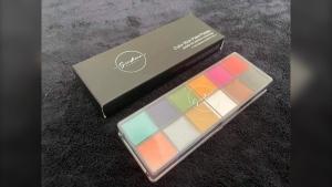 A palette from Sunshine Eagle's makeup line, Sunshine Beauty Cosmetics. (Supplied: Sunshine Beauty Cosmetics)