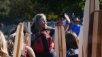 The Nanaimo Aboriginal Centre and the Mid Island Métis Nation have launched a fundraiser in hopes of creating B.C.'s first urban Indigenous school in Nanaimo. A still from a video on their fundraising page is shown.