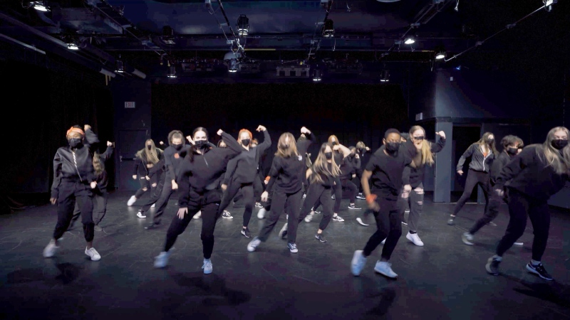 A scene from The Show Goes On, a documentary chronicling the last year for members of LCI Arts Academy Dance. (Courtesy LCI Arts Academy and Lethbridge School Division)