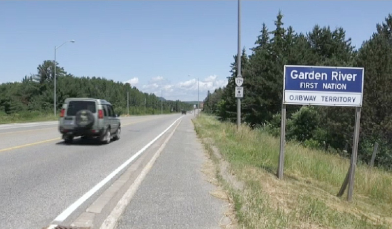 The Ontario government has announced plans to complete paving and other work along a 20-kilometre stretch of Highway 17B in Garden River First Nation. (File)