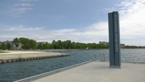 The Gord Downie Pier in Kingston, Ont. reopened on Friday for the first time since September. (Kimberley Johnson/CTV News Ottawa)
