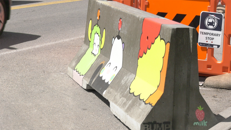 Designed by and finished by local artists, the project was undertaken by the Beltline Urban Mural Project (BUMP) to add colour, vibrancy, and an element of safety to the downtown neighbourhood.