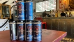 Sea Change Brewing Co. is donating $1 per Adam's Pale Ale four-pack to the ALS Society of Alberta. (Brandon Lynch/CTV News Edmonton)
