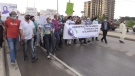 Multi-Faith March to End Racism in London, Ont. on June 11, 2021. (Bryan Bicknell/CTV London)