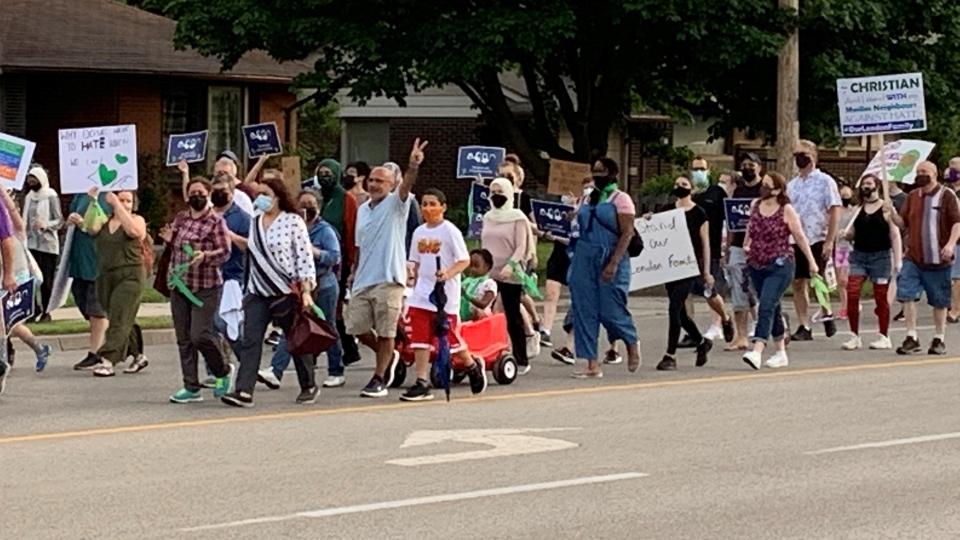 Multi-faith March against racism and Islamophobia