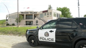 """Police were called to respond to an """"active threat"""" at the New Victory Church in southwest Calgary Friday."""