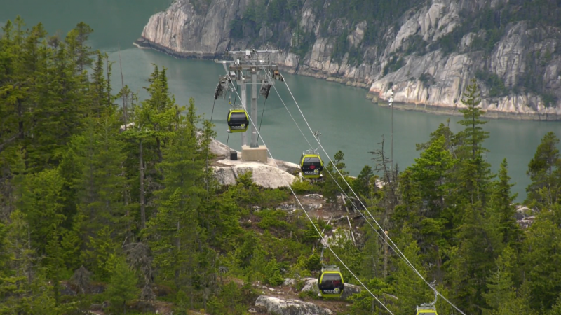 The Sea to Sky Gondola is seen after reopening on June 11, 2021.