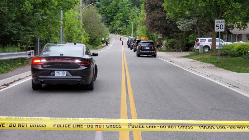 Police are investigating after a teenager drowned in the Credit River near Georgetown Friday night. (CTV News Toronto/David Ritchie)