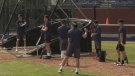 Members of the Lethbridge Bulls were at Spitz Stadium on Friday for the first day of the team's training camp.