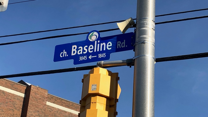 Baseline Road at the intersection of Navaho Drive. (File photo)