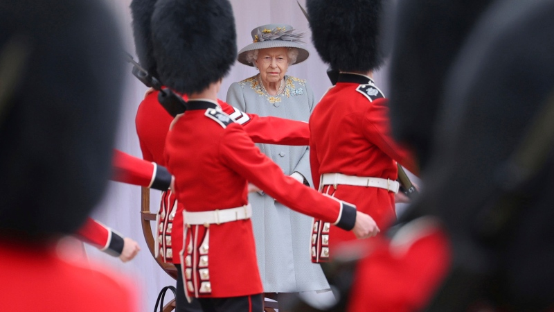 Berthelsen on Trooping the Colour ceremony