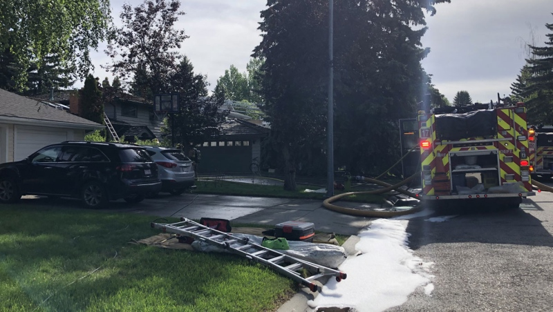 The Calgary Fire Department was called to a northwest home early Saturday.