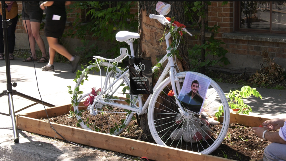 Ghost Bike for Maxime Levesque