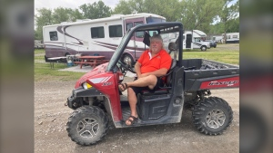 Carol Campsite owner Armand Charbonneau tells CTV since transient sites were allowed to open Friday he's been getting calls to book sites. June 12/21 (Alana Everson/CTV News Northern Ontario)
