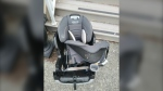 Bears removed and destroyed a car seat during their break-in to a Coquitlam family's car and garage on June 10, 2021.