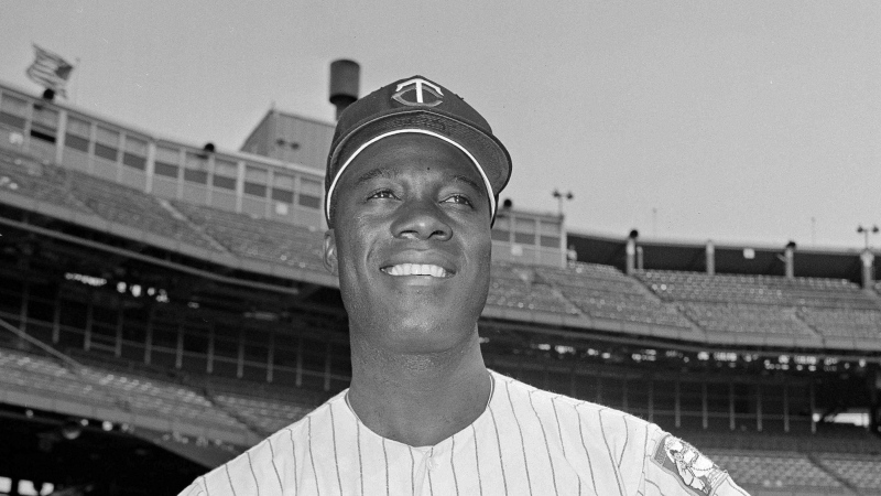 """In this June 21, 1964, file photo, Minnesota Twins pitcher Jim """"Mudcat"""" Grant poses. Grant, the first Black 20-game winner in the major leagues and a key part of Minnesota's first World Series team in 1965, has died, the Twins announced Saturday, June 12, 2021. He was 85. (AP Photo/Gene Herrick)"""
