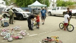 People had their bikes tuned as part of the Saskatoon Police Service's (SPS) 'Bike Day' in Pleasant Hill. (Tyler Barrow/CTV News)