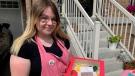Sales from Emily Reilley's Pride cookies benefit resources in Waterloo Region. (Jessica Smith/CTV Kitchener) (June 12, 2021)