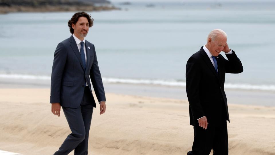 Trudeau Biden at G7