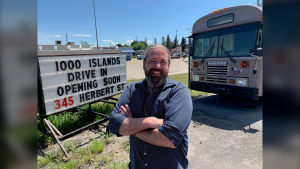 Silver Cinema Movie Theatre co-owner Jamie Peterson is opening a drive-in movie theatre in Gananoque, Ont. (Kimberley Johnson/CTV News Ottawa)
