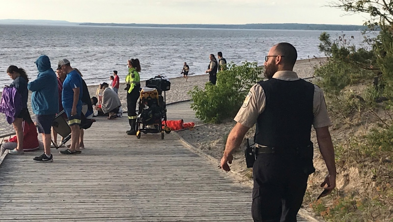 OPP conduct a search for a missing 21 year old man (David Sullivan/CTV News)