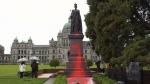 Queen Victoria statue defaced