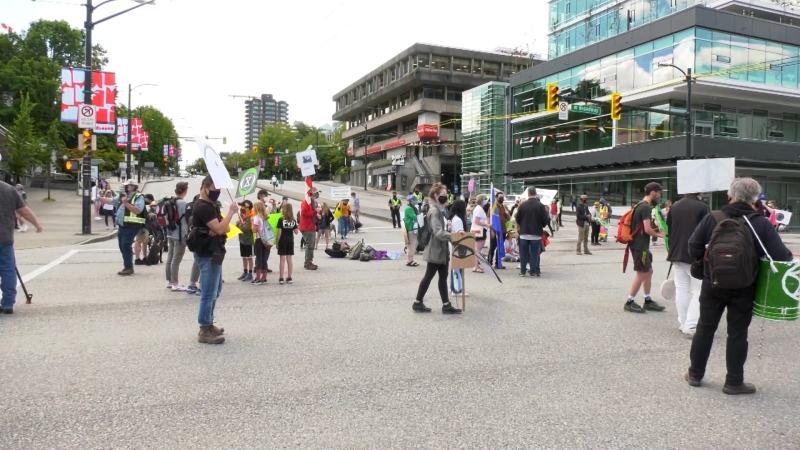 Activists block Vancouver intersection