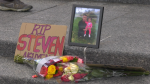 Friends and family gathered to remember Steven Nguyen. Saturday June 12, 2021 (CTV News Edmonton)