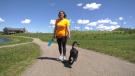 Tara Delver is walking to raise money and awareness. Saturday June 12, 2021 (CTV News Edmonton)