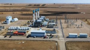 ENMAX's hybrid electric gas turbine, located at it's facility in Crossfield, Alta., is the first of its kind in Canada. (Supplied/ENMAX)