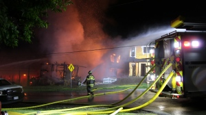 A structure fire in Port Moody near Henry Street and Moody Street left more than 100 customers without power on the morning of June 13, 2021.