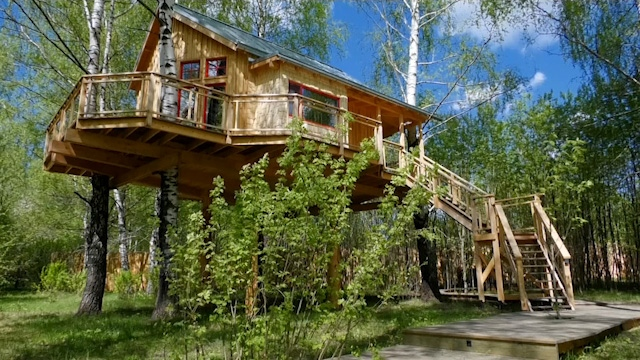 Russian couple build treehouse hotel
