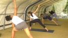 Rideau Sports Centre is offering yoga classes in a tent. (Shaun Vardon/CTV News Ottawa)