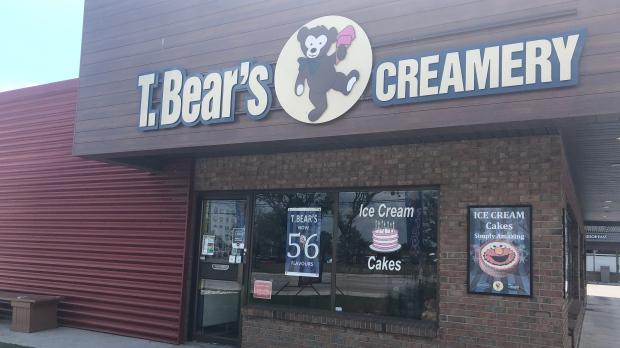 T-Bear's Creamery ice cream shop in Windsor, Ont. on Sunday, June 13, 2021. (Alana Hadadean/CTV Windsor)