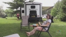 Campsites packed for first weekend reopened