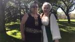 Mirtha Rivera, left, and Jean Hillabold, right, renewed their vows on Sunday. (Stefanie Davis / CTV News Regina)