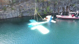 A decommissioned airplane at one of North America's top aircraft maintenance schools is getting a new lease on life as an underwater attraction for divers.