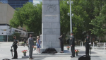 The Edmonton Cenotaph was rededicated in honour of those who served in the Afghanistan War. (Source: YouTube/City of Edmonton)