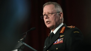 Former chief of the defence staff Jonathan Vance delivers remarks at the Ottawa Conference on Security and Defence in Ottawa, on Wednesday, March 4, 2020. Vance, Canada's top soldier, says he's retiring. THE CANADIAN PRESS/Justin Tang