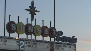 The Sunset Barrie Drive-in Theatre opens