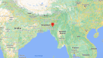This map shows the location of the village of Baktawng in the Indian state of Mizoram, home to Ziona Chana. (Google Maps)