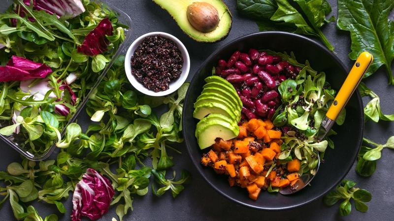 veggies, vegan